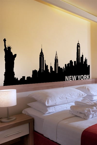 Wall decals new york for New york bedroom designs