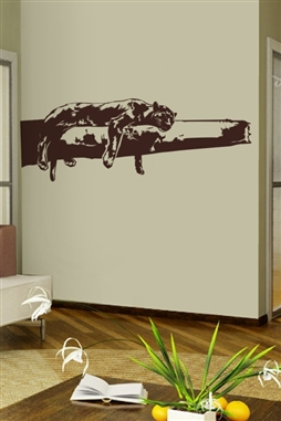 Panther Nap Wall Decal