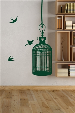 Cage Wall Decal