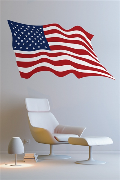 American flag wall decals art without boundaries for American flag wall mural