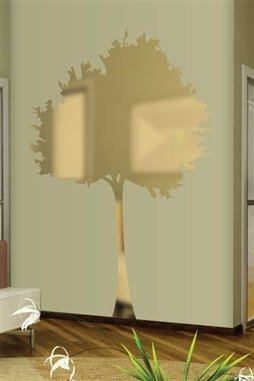 wall decals reflective skinny tree- walltat art without boundaries
