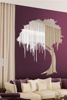 Mystical Tree Wall Decal Reflective Mirror Wall Decals - Wall decals mirror