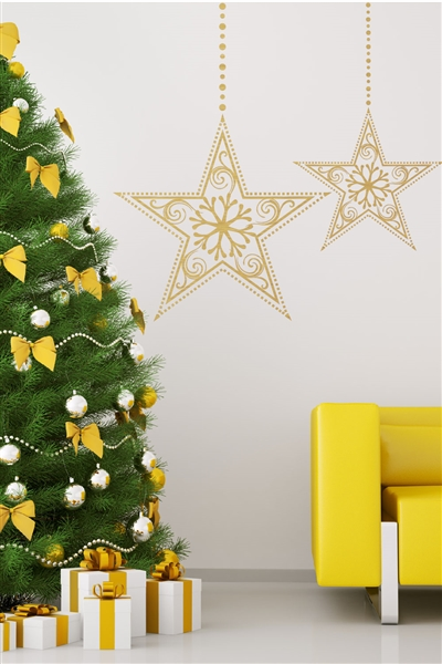 Holiday Stars Wall Decals | Christmas Wall Stickers