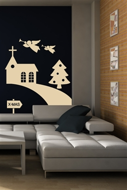 Christmas Wall Decals Holiday Trail