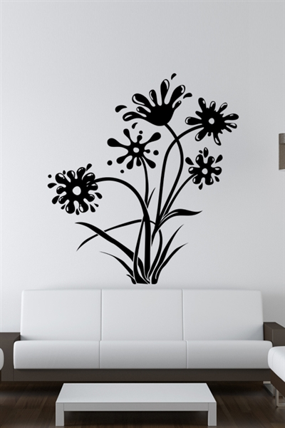 Wall Decals Ink And Flowers Walltat Com Art Without