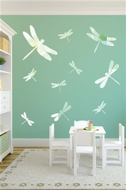 Dragonfly Chrome Wall Decal