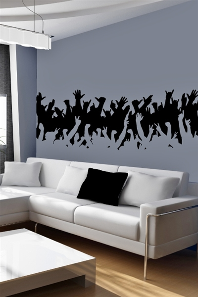 Concert Crowd Wall Decal Music Decals Walltat