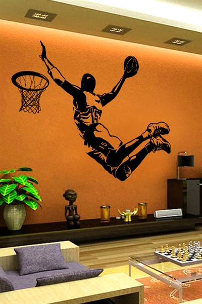 Wall decals champion basketball walltatcom art without for Basketball wall decals