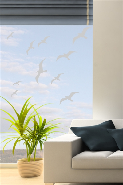 Wall Decals Birds In Flight Frosted Walltat Com Art
