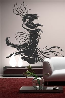 Lady Nature Baroque Wall Decal