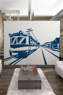 Boxcar on Track Wall Decals